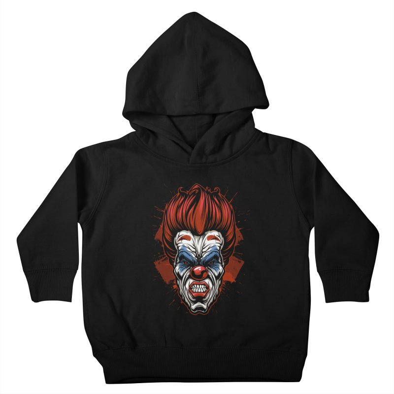Evil clown Kids Toddler Pullover Hoody by fishark's Artist Shop