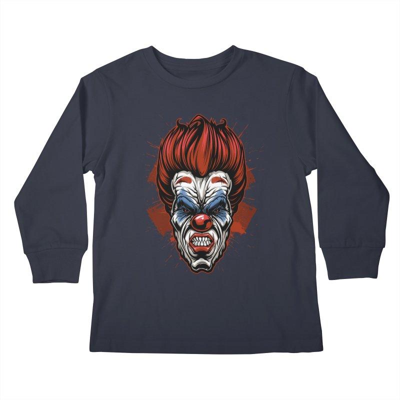 Evil clown Kids Longsleeve T-Shirt by fishark's Artist Shop