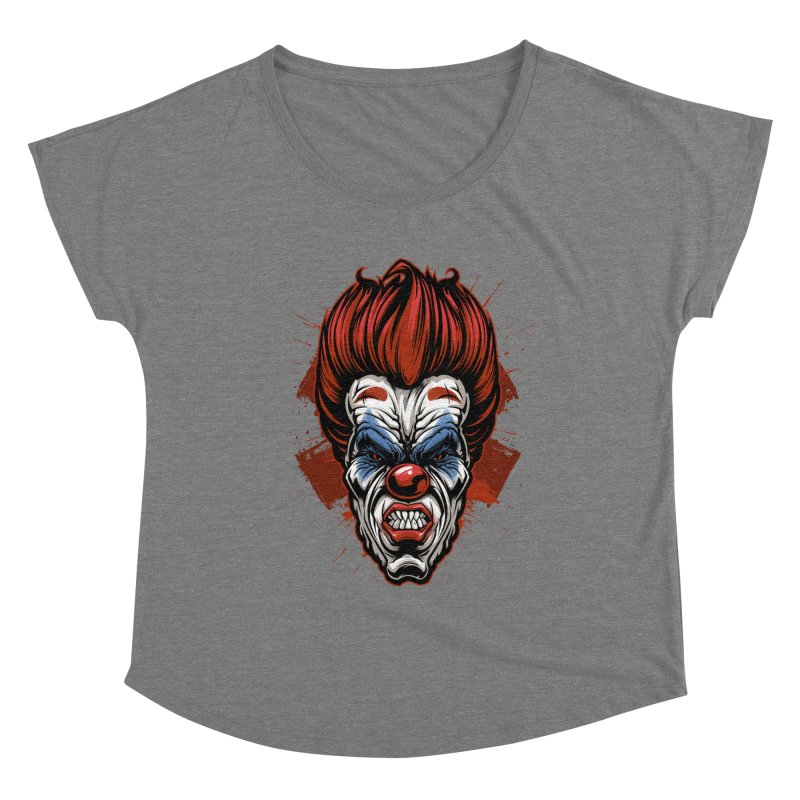 Evil clown Women's Scoop Neck by fishark's Artist Shop
