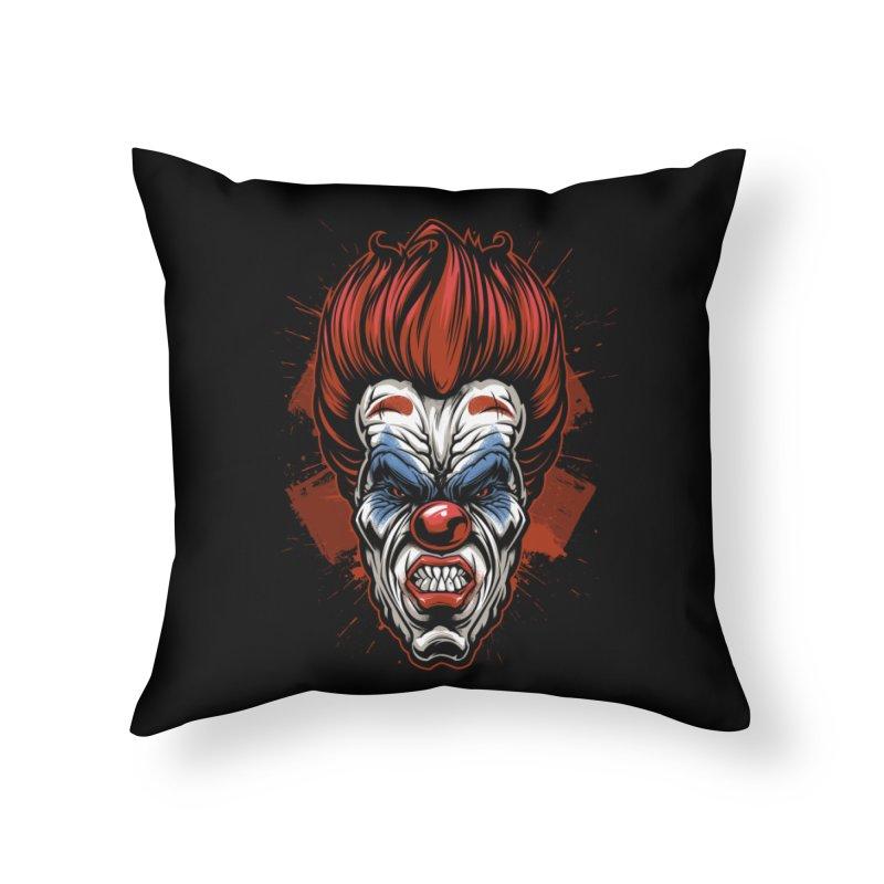 Evil clown Home Throw Pillow by fishark's Artist Shop