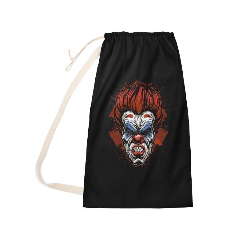 Evil clown Accessories Bag by fishark's Artist Shop