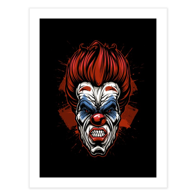 Evil clown Home Fine Art Print by fishark's Artist Shop