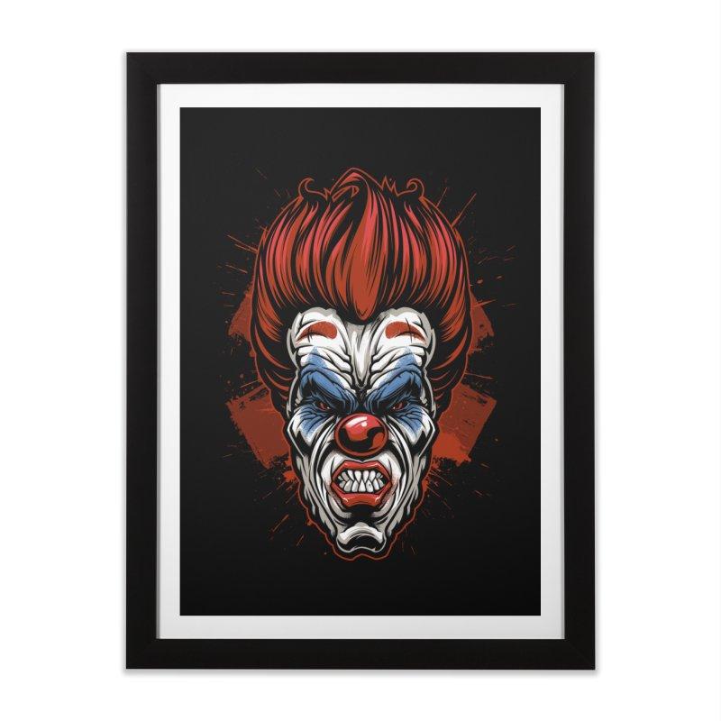 Evil clown Home Framed Fine Art Print by fishark's Artist Shop