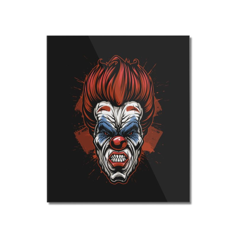 Evil clown Home Mounted Acrylic Print by fishark's Artist Shop