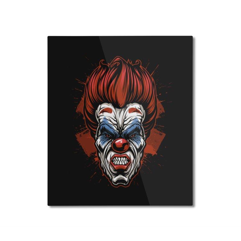 Evil clown Home Mounted Aluminum Print by fishark's Artist Shop