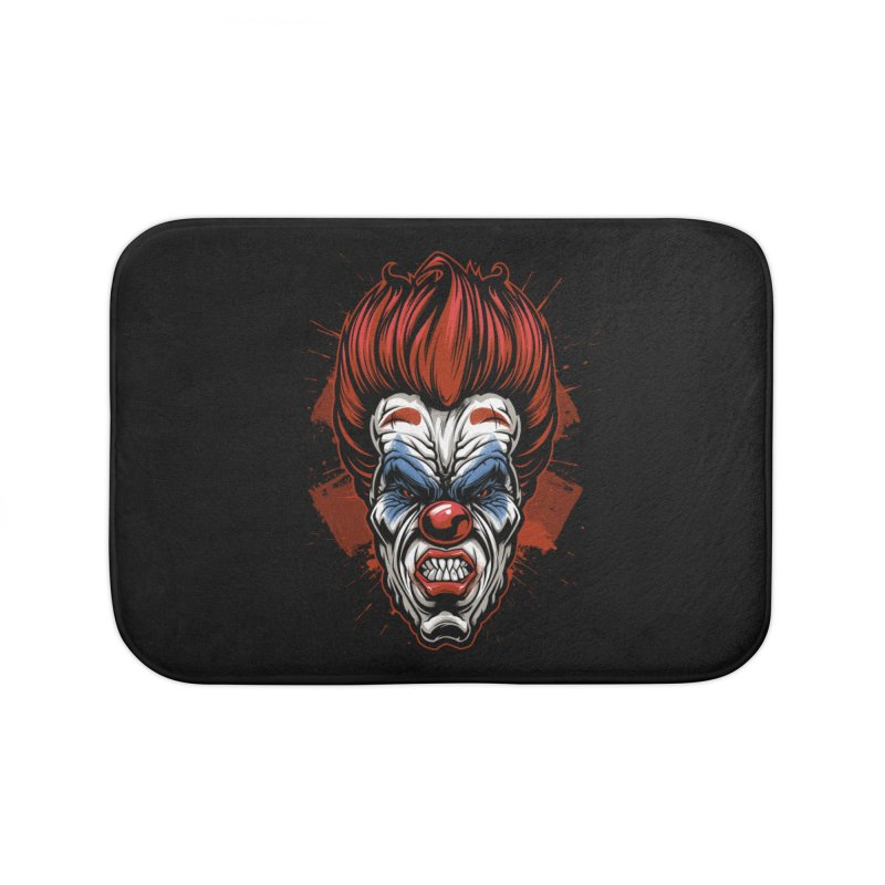 Evil clown Home Bath Mat by fishark's Artist Shop