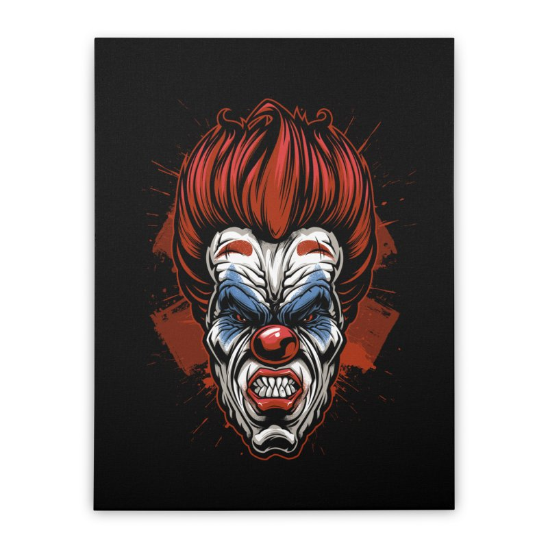 Evil clown Home Stretched Canvas by fishark's Artist Shop
