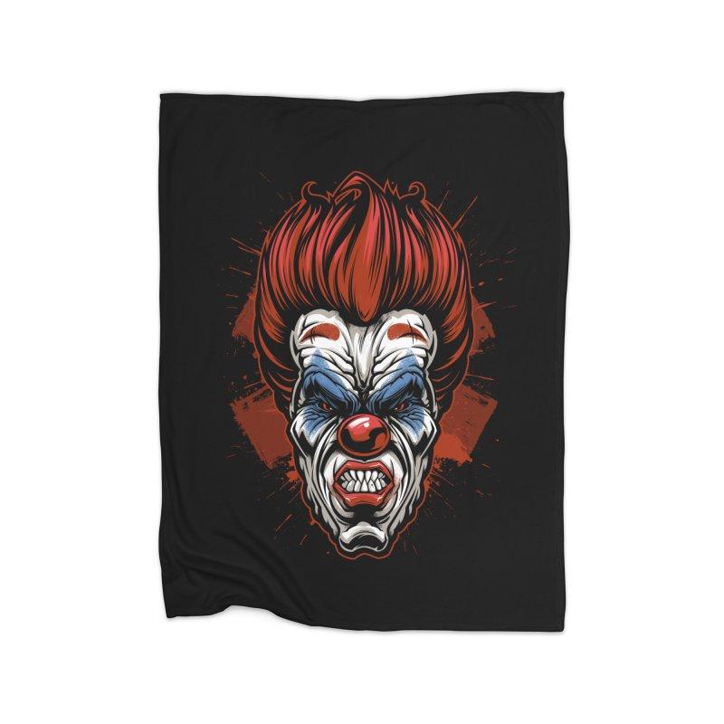 Evil clown Home Blanket by fishark's Artist Shop