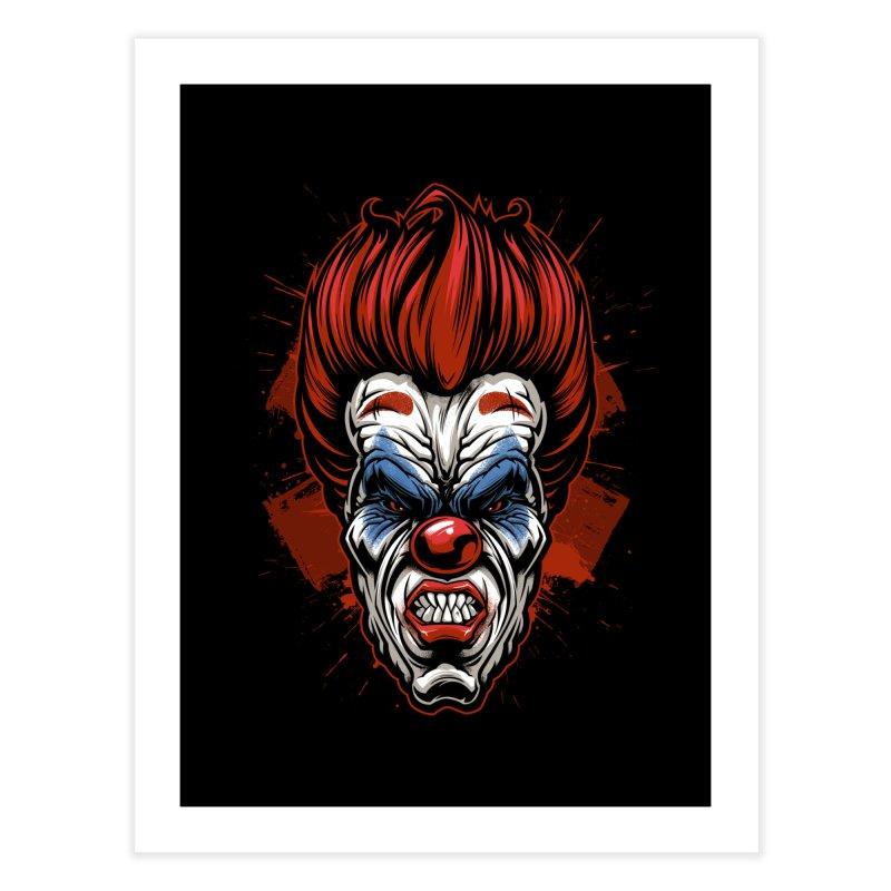 Evil clown Home Fine Art Print by fishark's Artist Shop