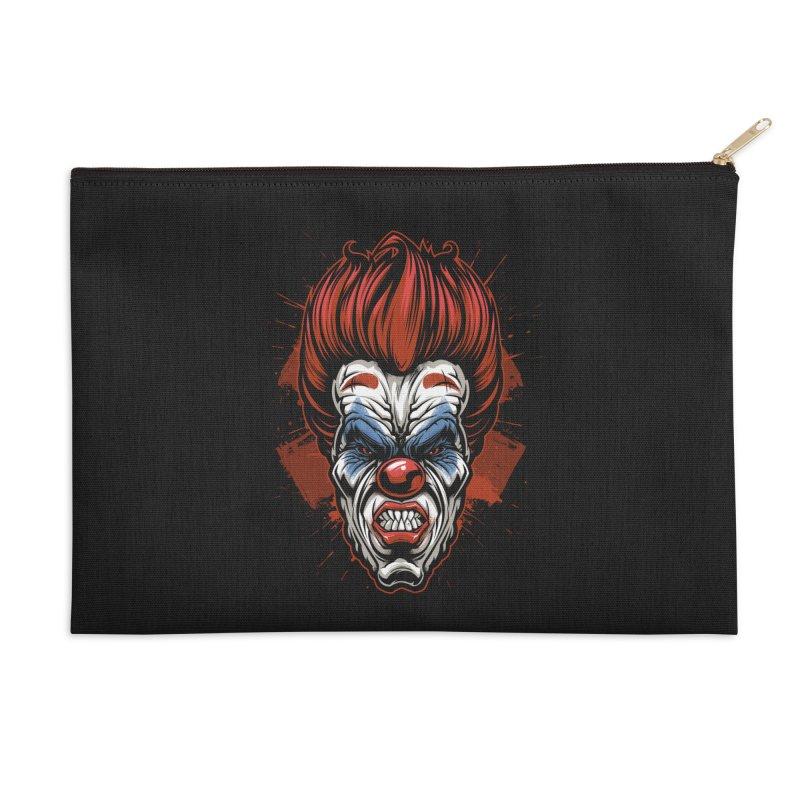 Evil clown Accessories Zip Pouch by fishark's Artist Shop