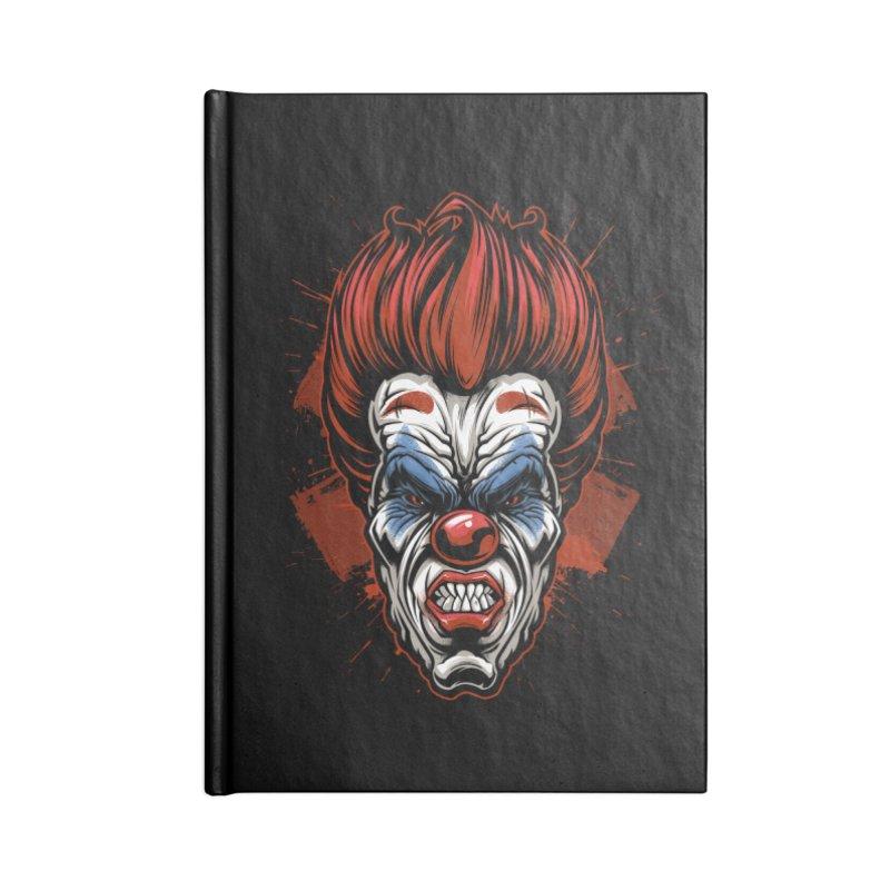 Evil clown Accessories Notebook by fishark's Artist Shop