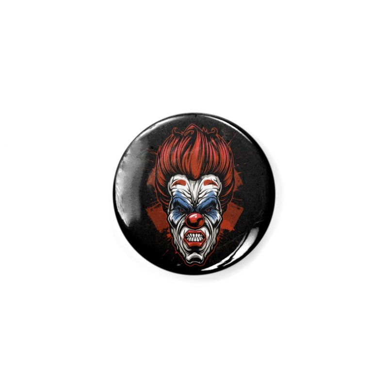 Evil clown Accessories Button by fishark's Artist Shop