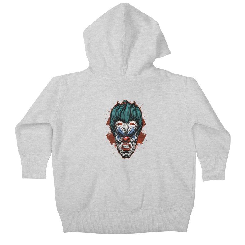 it ends Clown Kids Baby Zip-Up Hoody by fishark's Artist Shop
