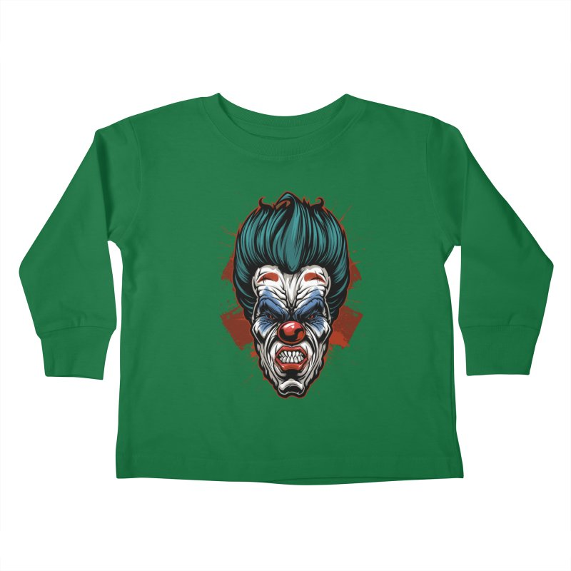 it ends Clown Kids Toddler Longsleeve T-Shirt by fishark's Artist Shop