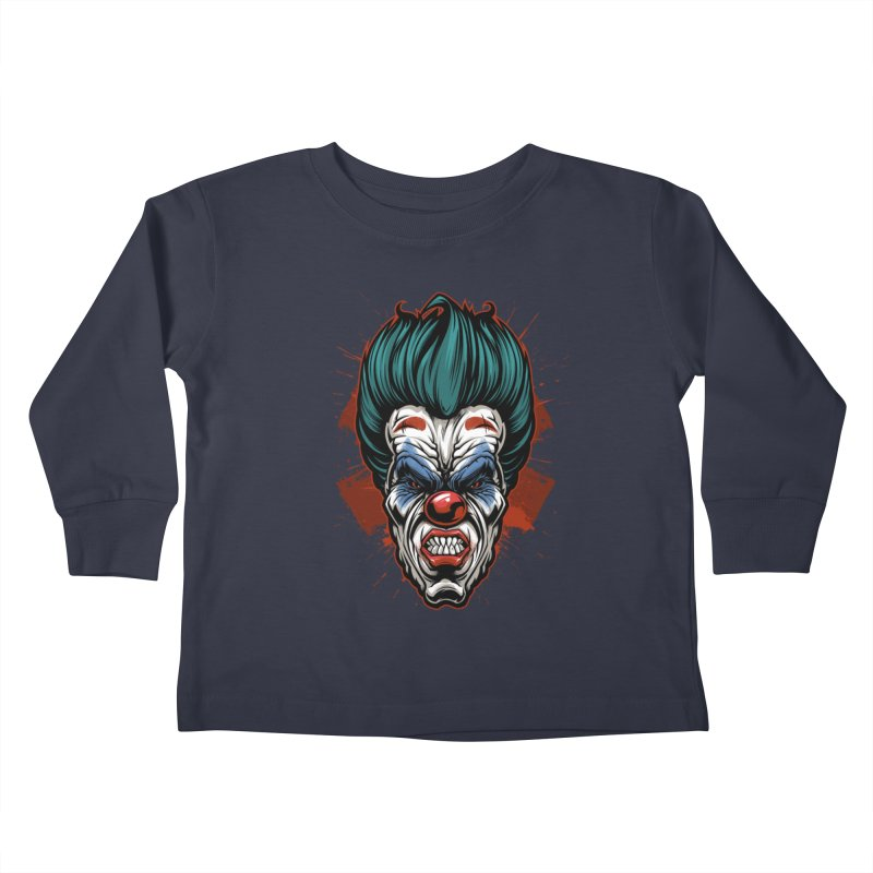 it ends Clown Kids Toddler Longsleeve T-Shirt by fishark's Artist Shop