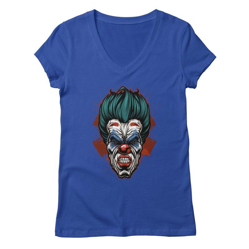 it ends Clown Women's V-Neck by fishark's Artist Shop