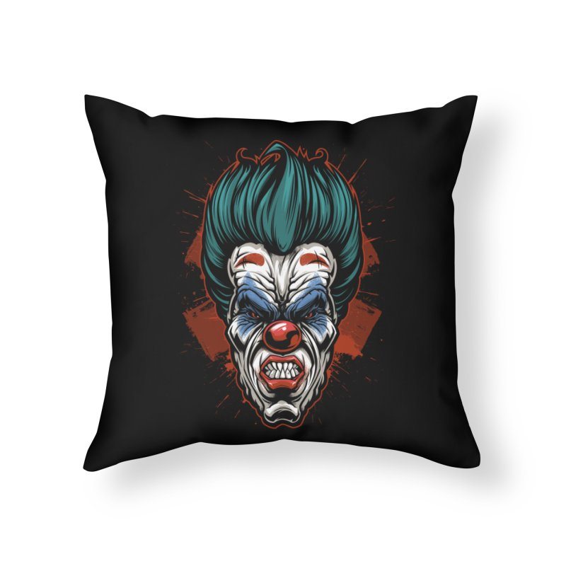 it ends Clown Home Throw Pillow by fishark's Artist Shop