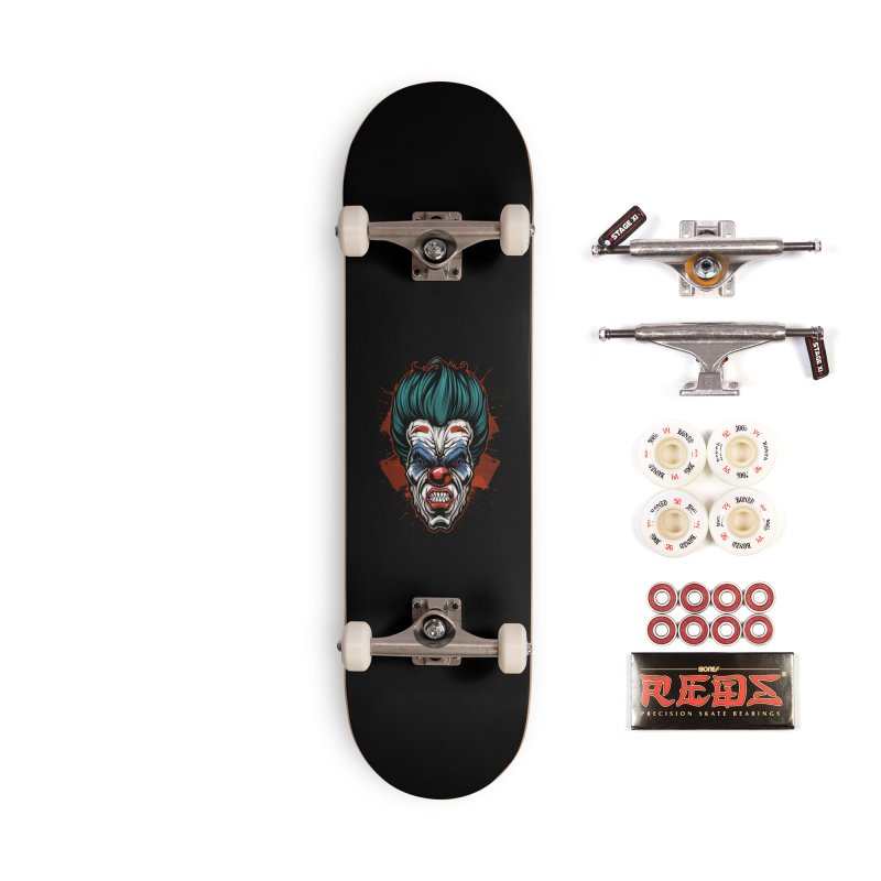 it ends Clown Accessories Skateboard by fishark's Artist Shop