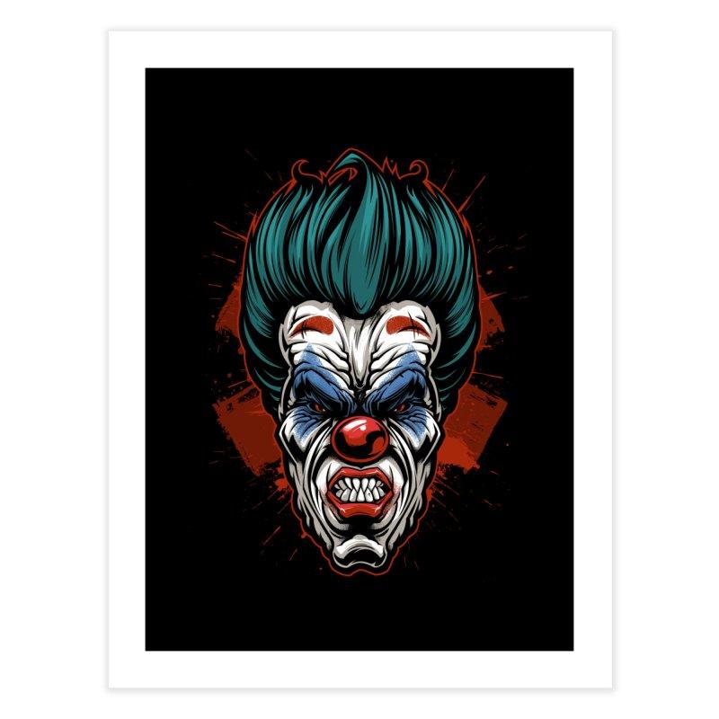 it ends Clown Home Fine Art Print by fishark's Artist Shop