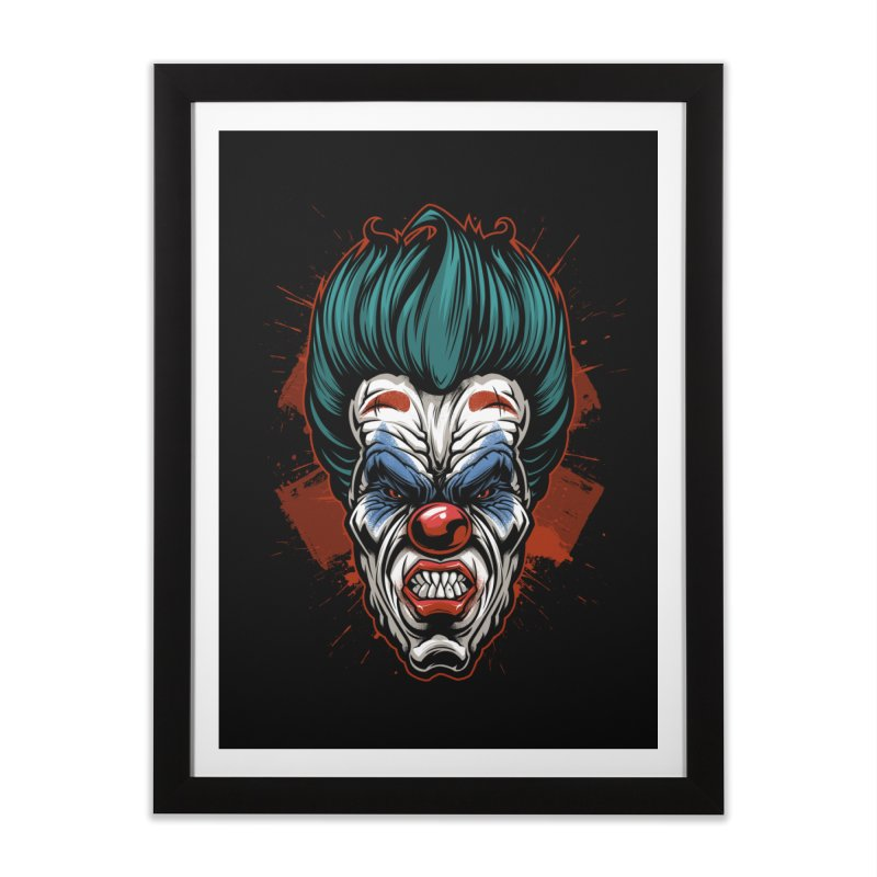 it ends Clown Home Framed Fine Art Print by fishark's Artist Shop