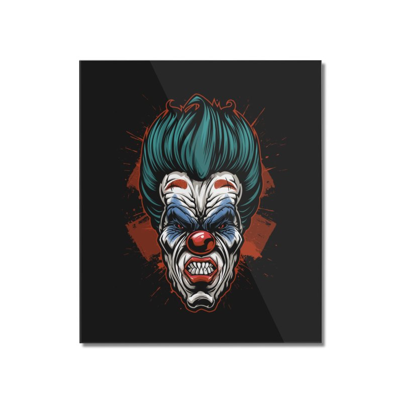 it ends Clown Home Mounted Acrylic Print by fishark's Artist Shop