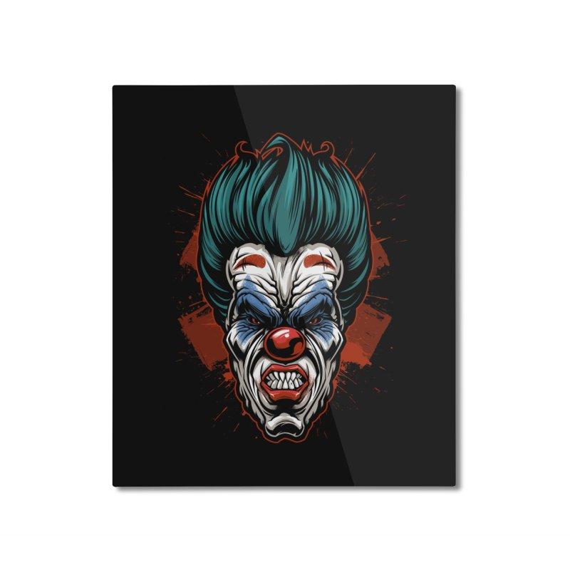 it ends Clown Home Mounted Aluminum Print by fishark's Artist Shop