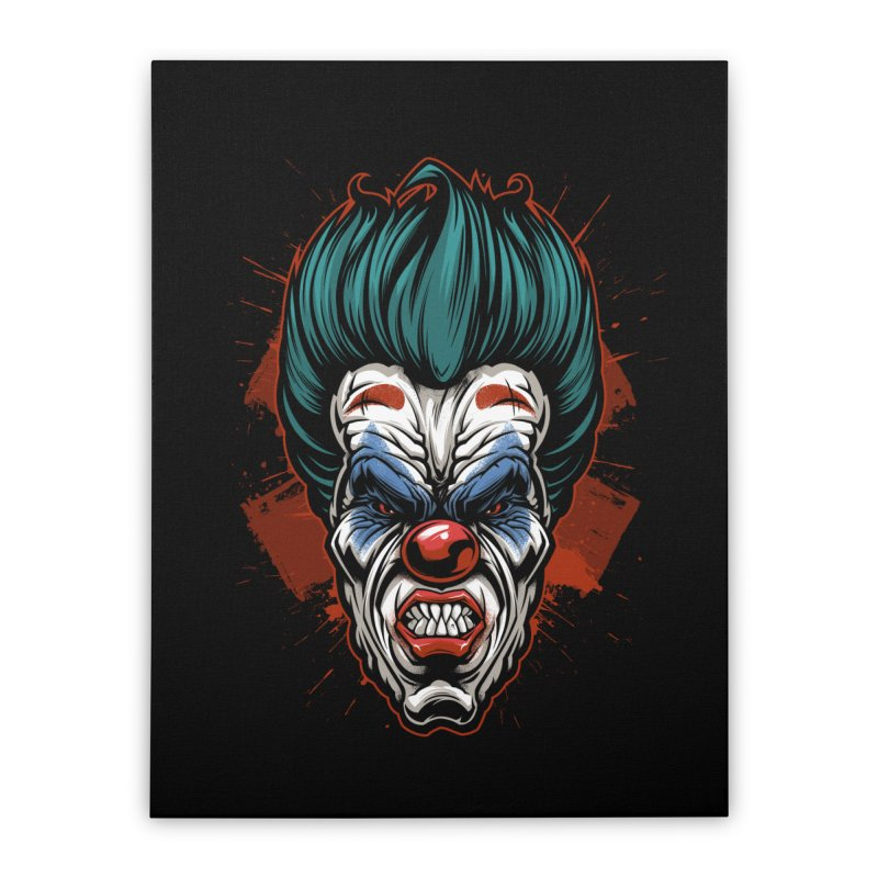 it ends Clown Home Stretched Canvas by fishark's Artist Shop