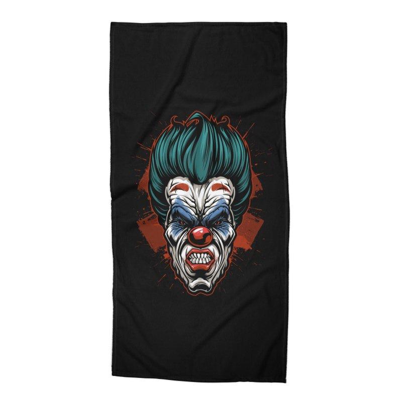 it ends Clown Accessories Beach Towel by fishark's Artist Shop