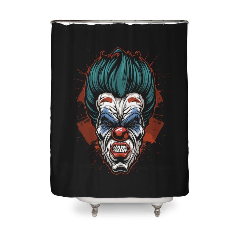 it ends Clown Home Shower Curtain by fishark's Artist Shop