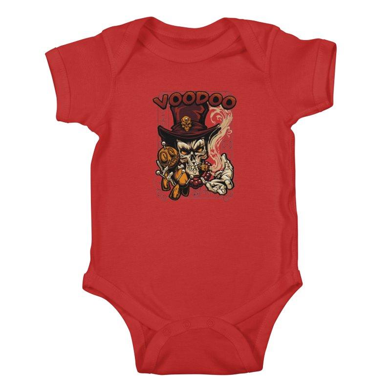 Voodoo Kids Baby Bodysuit by fishark's Artist Shop