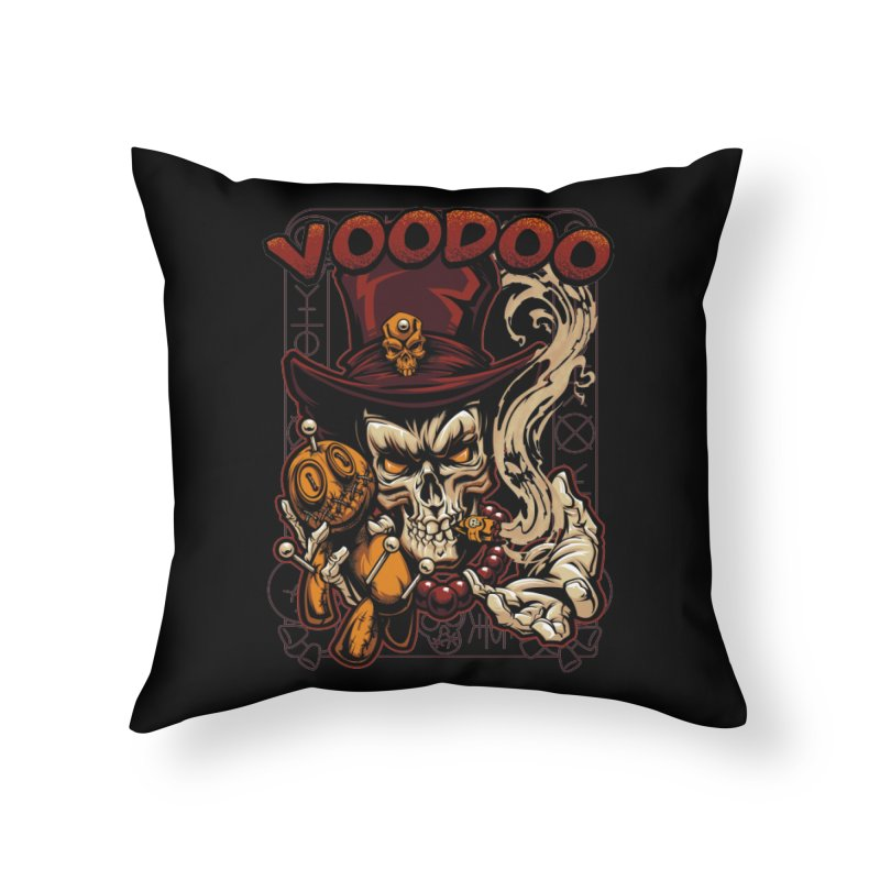 Voodoo Home Throw Pillow by fishark's Artist Shop