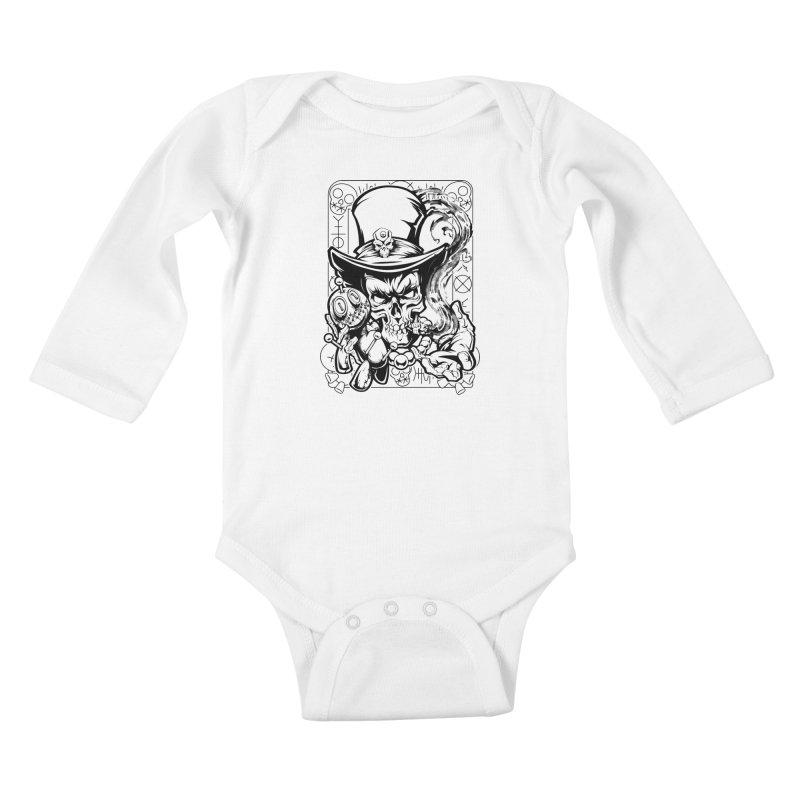Voodoo Kids Baby Longsleeve Bodysuit by fishark's Artist Shop