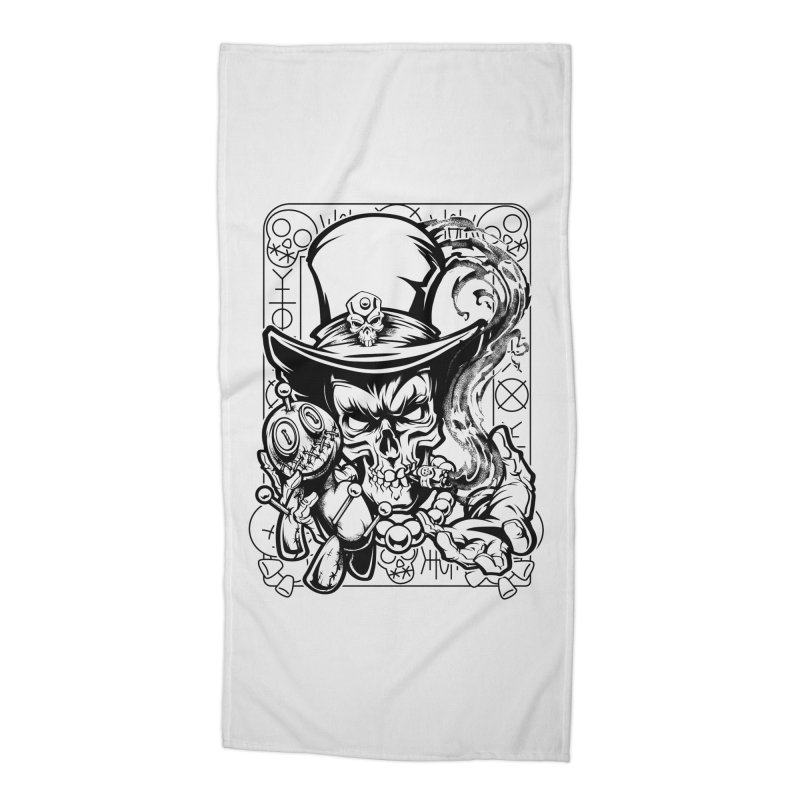 Voodoo Accessories Beach Towel by fishark's Artist Shop