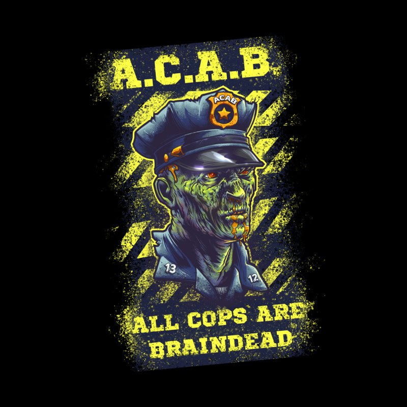 A.C.A.B. Men's Pullover Hoody by fishark's Artist Shop