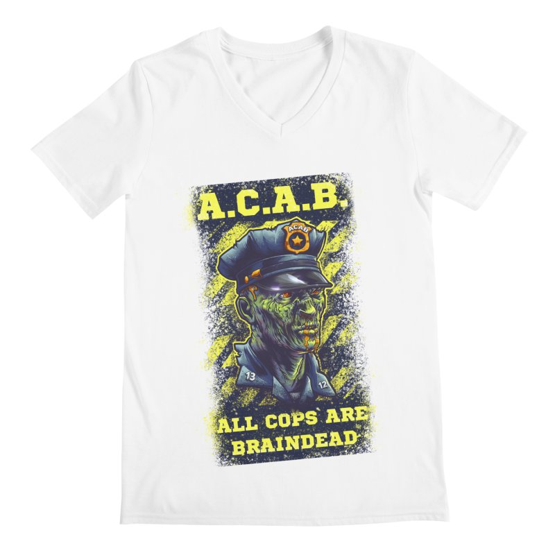 A.C.A.B. Men's V-Neck by fishark's Artist Shop