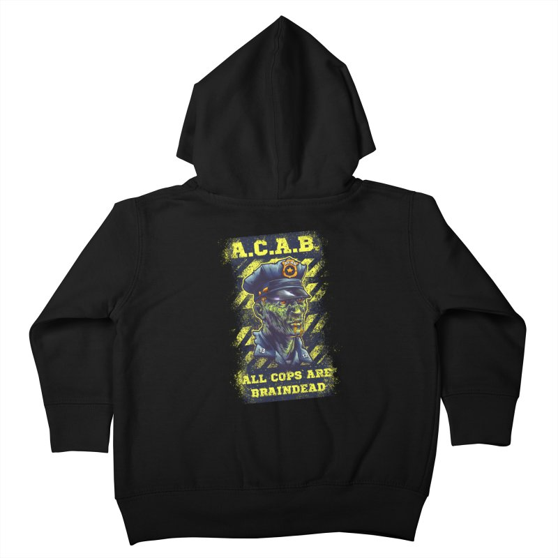 A.C.A.B. Kids Toddler Zip-Up Hoody by fishark's Artist Shop