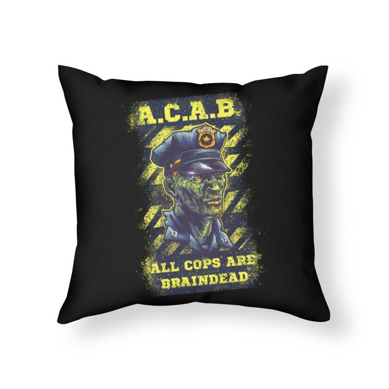 A.C.A.B. Home Throw Pillow by fishark's Artist Shop