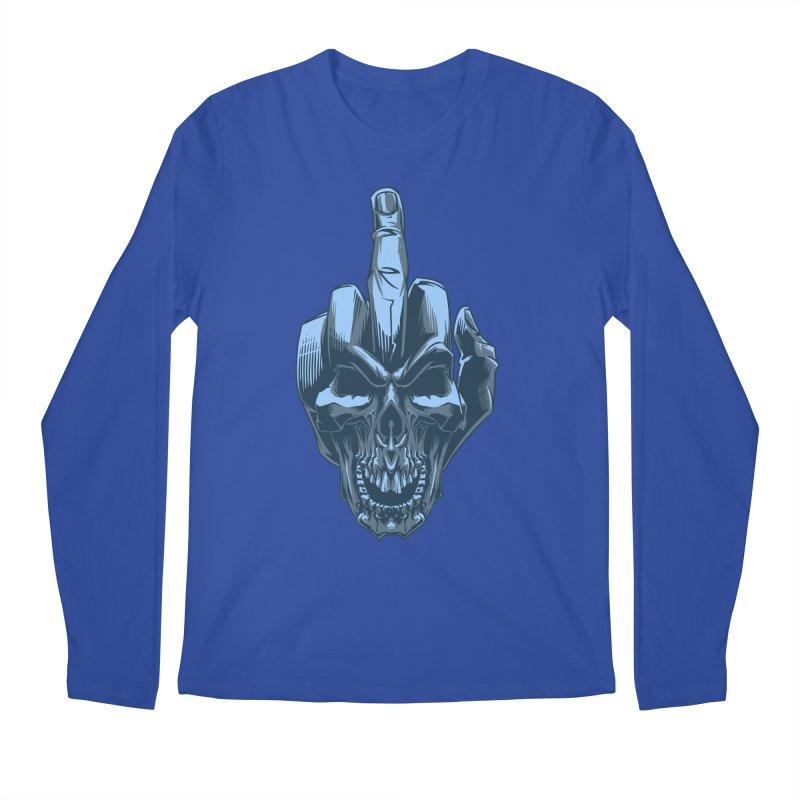 Fuck Skull Men's Longsleeve T-Shirt by fishark's Artist Shop