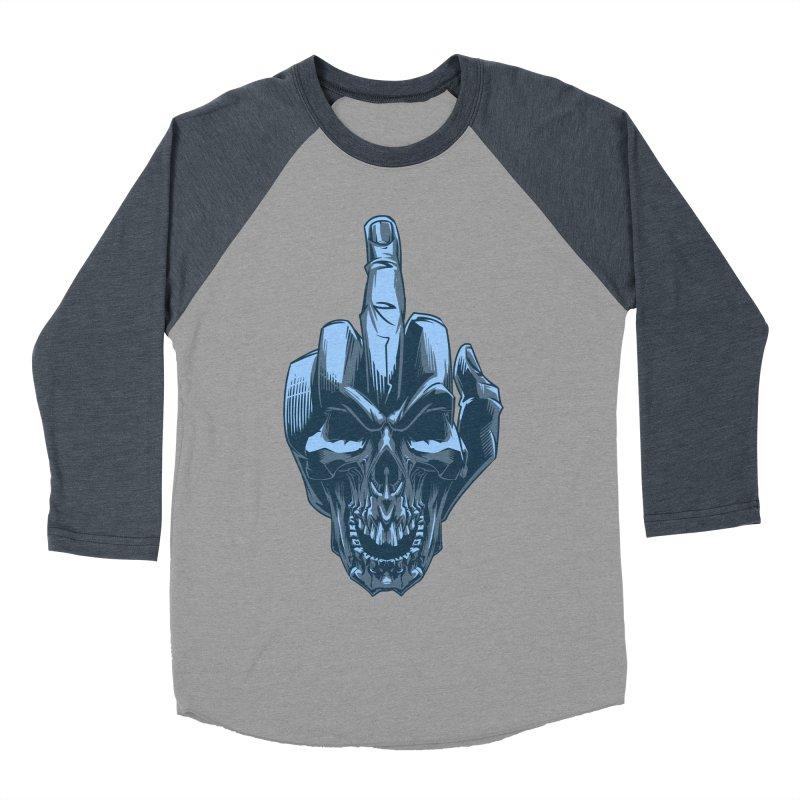 Fuck Skull Women's Baseball Triblend T-Shirt by fishark's Artist Shop
