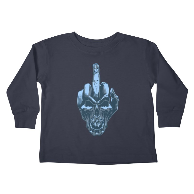 Fuck Skull Kids Toddler Longsleeve T-Shirt by fishark's Artist Shop