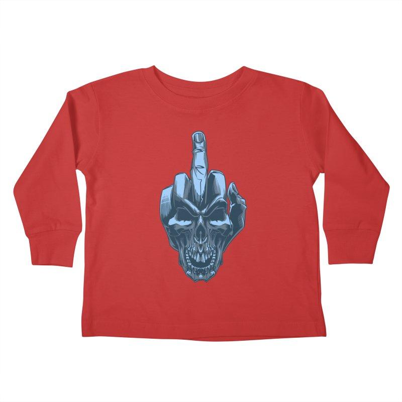 Fuck Skull Kids Toddler Longsleeve T-Shirt by fishark's Artist Shop