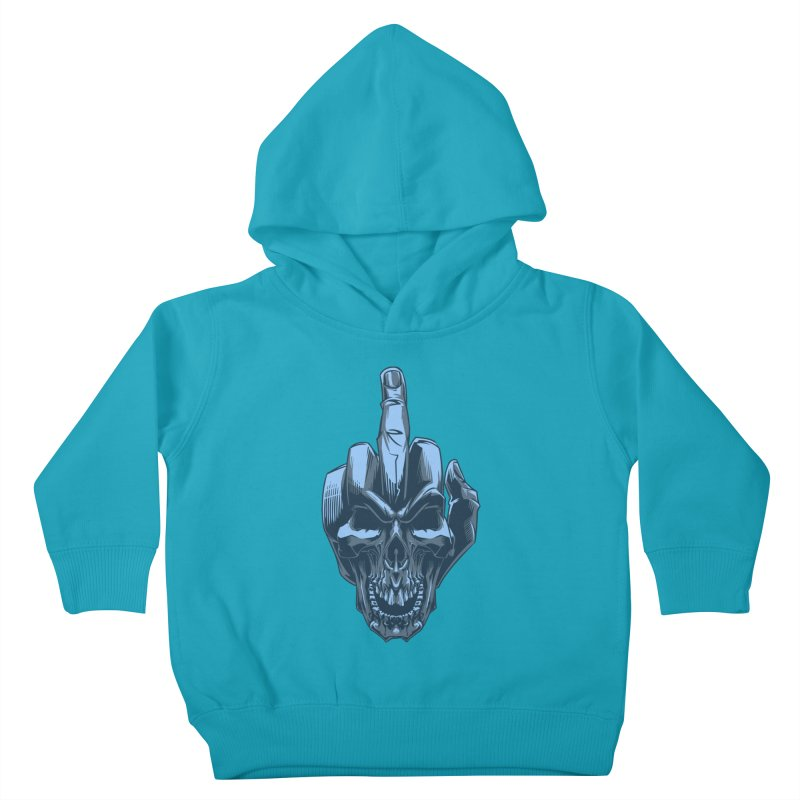 Fuck Skull Kids Toddler Pullover Hoody by fishark's Artist Shop