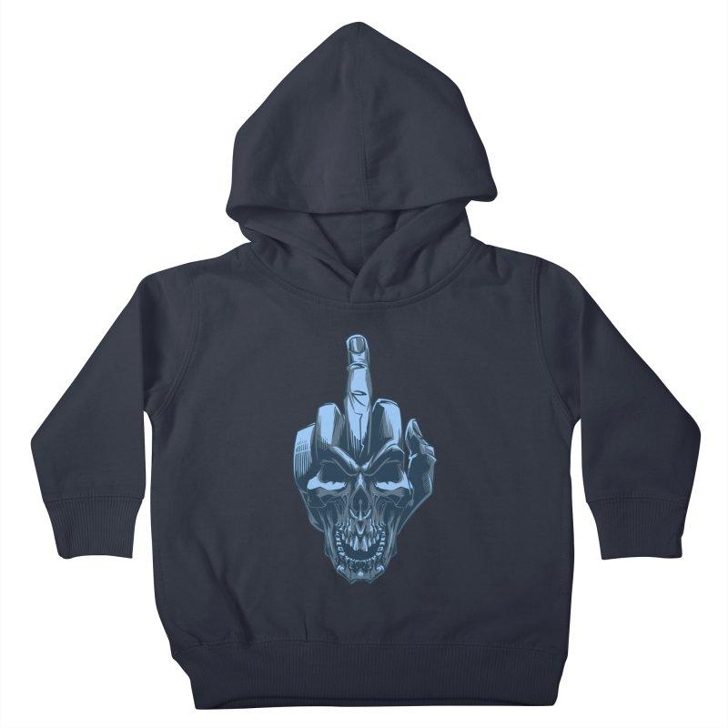 Fuck Skull Kids Toddler Pullover Hoody by fishark's Artist Shop