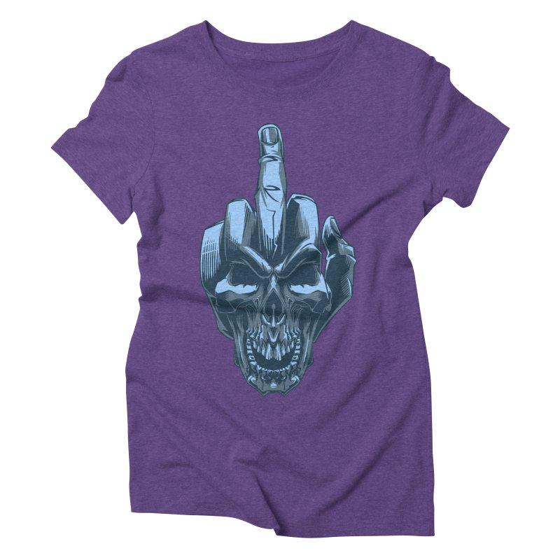 Fuck Skull Women's Triblend T-Shirt by fishark's Artist Shop