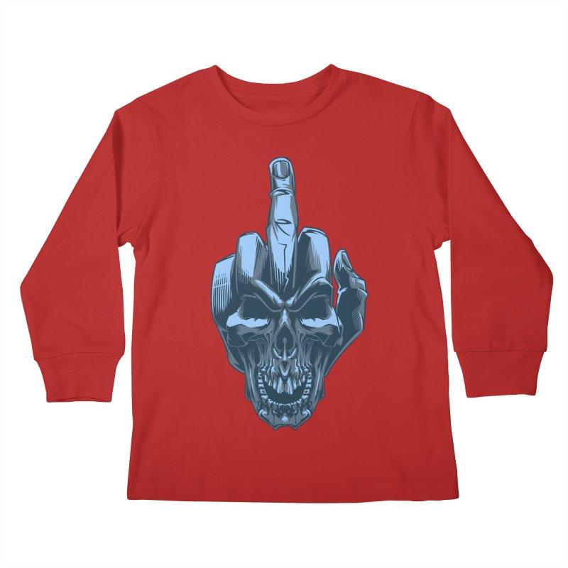 Fuck Skull Kids Longsleeve T-Shirt by fishark's Artist Shop