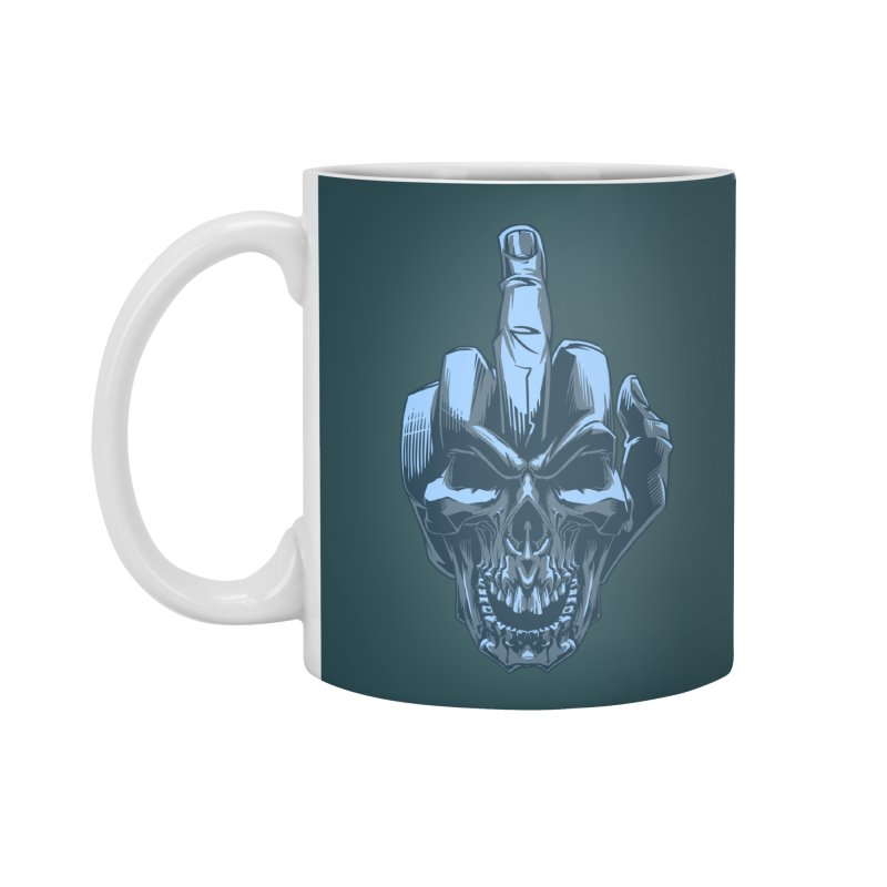 Fuck Skull Accessories Mug by fishark's Artist Shop