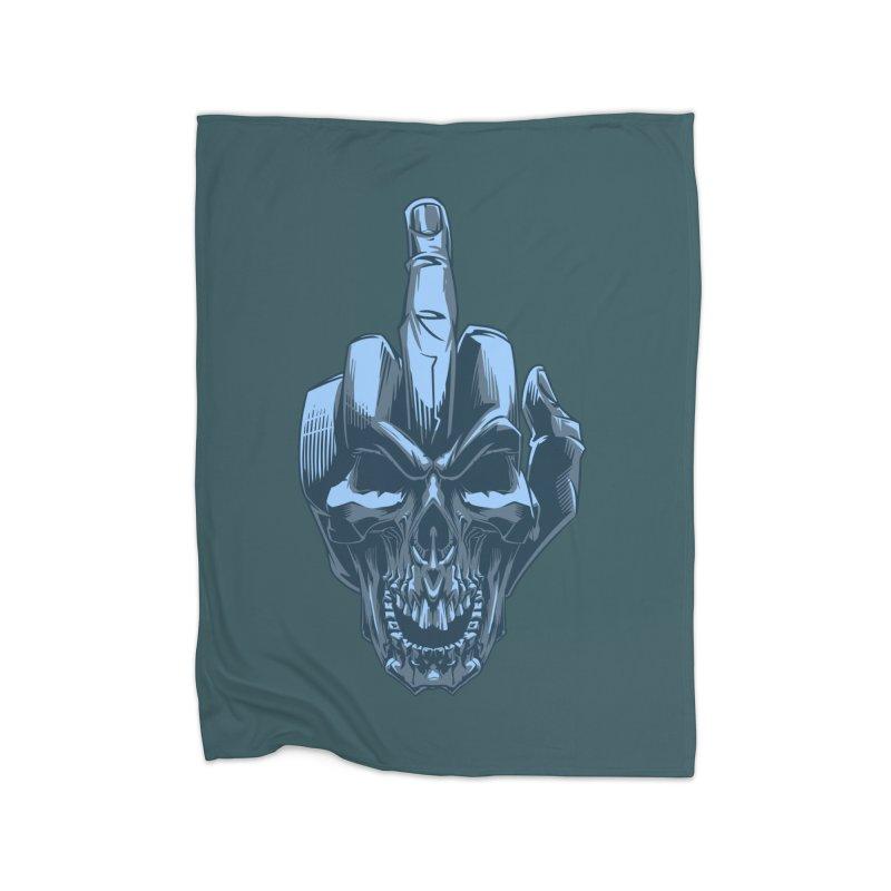 Fuck Skull Home Blanket by fishark's Artist Shop