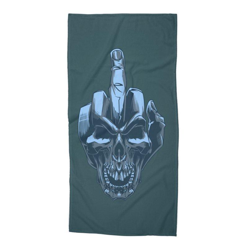 Fuck Skull Accessories Beach Towel by fishark's Artist Shop