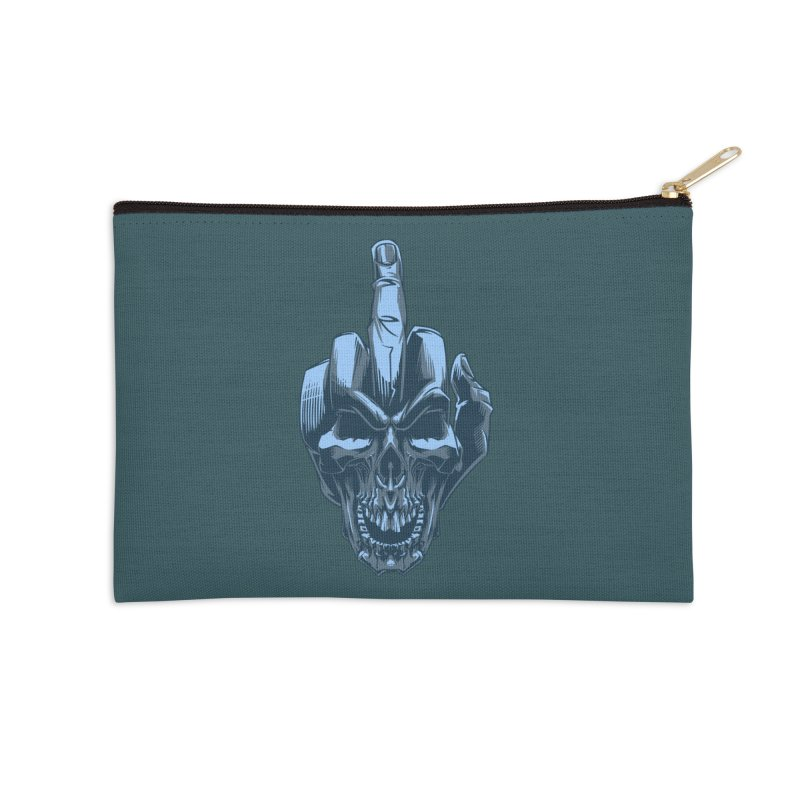 Fuck Skull Accessories Zip Pouch by fishark's Artist Shop
