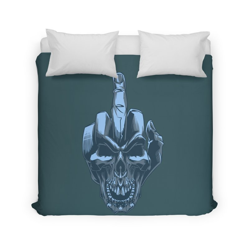 Fuck Skull Home Duvet by fishark's Artist Shop